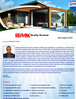 RE/MAX Realty Review July - August 2014